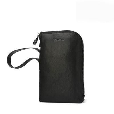 바이슨데님 수제 가죽 스트랩 핸드폰 케이스 장지갑 N8173-1B