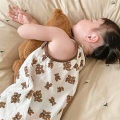 트윈베어 인견 수면조끼S