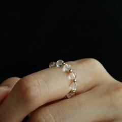14K gold-filled quartz beads ring