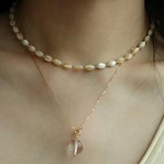14K gold-filled nacre necklace