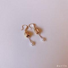 벨플라워 담수진주 드롭 귀걸이 / bellflower drop earring
