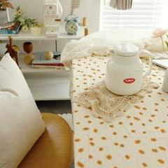옐로블룸 플라워 면 식탁보 테이블보