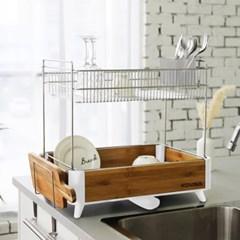 2단 싱크대선반 식기건조대 설거지통 물빠짐 그릇정리대 수저통