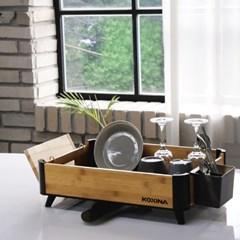 그릇정리대 물빠짐 식기건조대 1단 접시 행주 수저통 설거지 컵