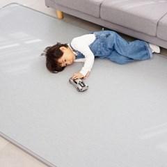 15T 퓨어 PVC 놀이방매트 직물패턴 거실 어린이 층간소음방지 매트