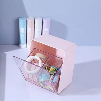 악세사리 면봉 화장솜 케이스 미니 투명창케이스