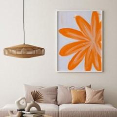 인테리어 액자 오렌지 플라워 orange flower