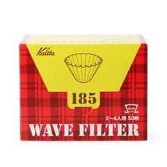 칼리타 KWF 185 웨이브 필터 화이트 50매