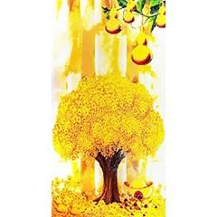 황금 재물 나무 2 (패브릭) 보석십자수 50x100