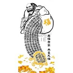 달마와 금원보 거북 (패브릭) 보석십자수 60x120