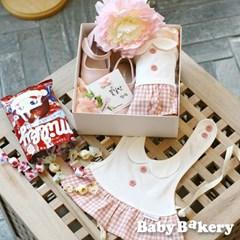 [아기옷선물패키지] 꽃길만 걸으렴 BOX_밀키 (출산선물 백일 돌)