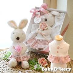 [아기옷선물패키지] 바니드레스빕_밀키 (출산선물)