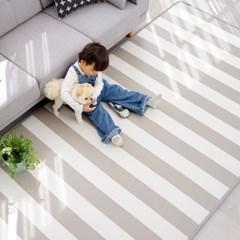 15T 퓨어 PVC 놀이방매트 스트라이프 거실 어린이 층간소음방지 매트