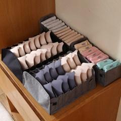 패브릭 칸막이 양말 속옷 정리함 수납 보관함