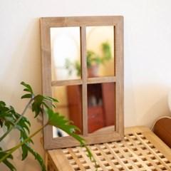 빈티지 창문 갤러리 우드 거울