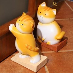 문쾅방지 뚱냥 고양이 도어스토퍼