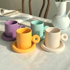 매트 도넛 머그 찻잔 세트 (4colors)