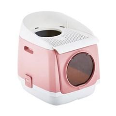 [룸펫] 톰캣 프리캐빈 하우스형 고양이 화장실 - 핑크