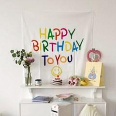 생일축하 영문배너 패브릭 가랜드 포스터 ch