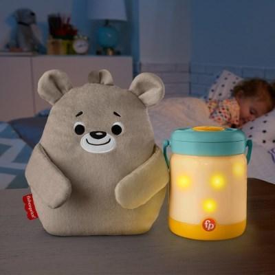 [피셔프라이스] 애착 곰인형과 소리나는 수면랜턴