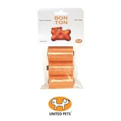 [룸펫] 강아지 똥추 배변봉투 유나이티드펫츠 Bonton 리필 오렌지-30