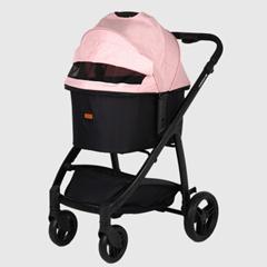 [룸펫] 루쏘 프리미엄 강아지유모차 표준형 L - 핑크