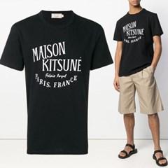 21FW 레터링 프린트 티셔츠 블랙 AM00100KJ0008 BK