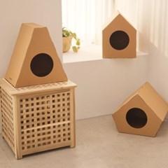[코쿠모노] 골판지 숨숨집 고양이 하우스 종이 캣하우스