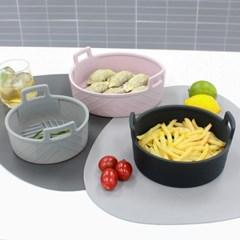 심플쿡 실리콘 에어프라이어용기 그릇 중형 18cm