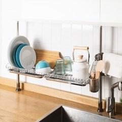 설거지 싱크대선반 기둥식 높이조절 주방 그릇정리대 식기건조대