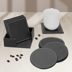 인블룸 스티치 컵받침(원형/사각)