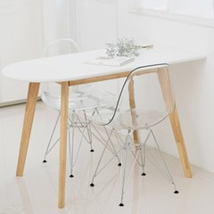 싯존 국산 타원형 티테이블 식탁 1인용 테이블