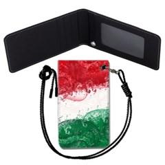 이탈리아 국기 목걸이카드지갑 카드목걸이