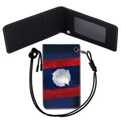 라오스 국기 목걸이카드지갑 카드목걸이