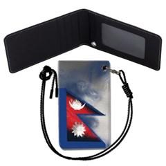 네팔 국기 목걸이카드지갑 카드목걸이