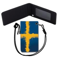 스웨덴 국기 목걸이카드지갑 카드목걸이