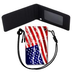 미국 국기 목걸이카드지갑 카드목걸이