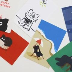 길냥 탄이 엽서 set (6-type)
