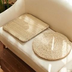 라탄 원형 사각 해초 시원한 방석매트 3type