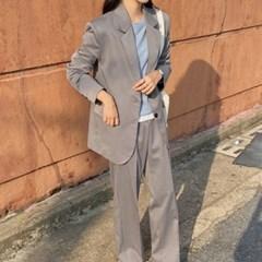 여성 자켓 재킷 퀄팅 캐주얼 아우터 렌드미 셋업 싱글