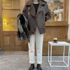 여성 자켓 재킷 퀄팅 캐주얼 아우터 온 양털 무스탕