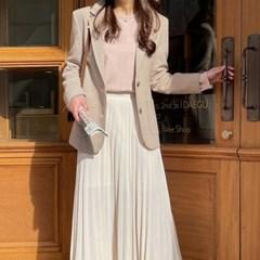 여성 자켓 재킷 퀄팅 캐주얼 아우터 트비디 싱글