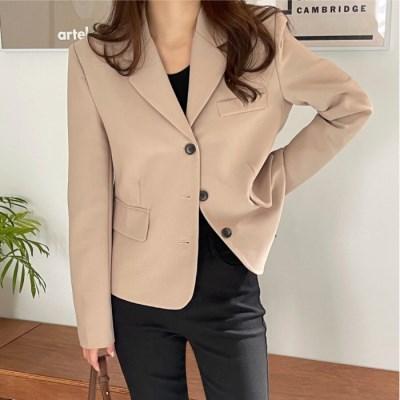 여성 자켓 재킷 퀄팅 캐주얼 아우터 게르미 크롭