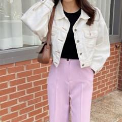 여성 자켓 재킷 퀄팅 캐주얼 아우터 스너미 코튼 크롭
