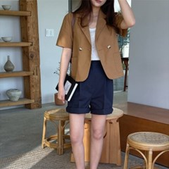 여성 자켓 재킷 퀄팅 캐주얼 아우터 닐러 더블 숏