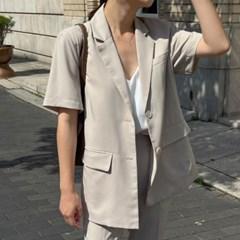 여성 자켓 재킷 퀄팅 캐주얼 아우터 크래브 썸머 셋업