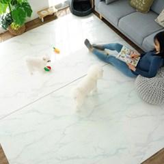 PVC 단면 4T 사각형 스노우마블 애견매트 충격완화 미끄럼방지
