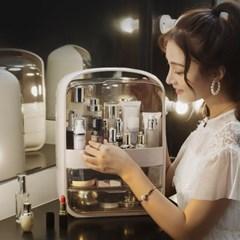 퓨어티 2단서랍 뚜껑 화장품정리함(30x40cm) (인디핑크)