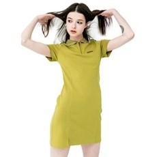 [러닝하이] RNHI 카라 집업 드레스 그린