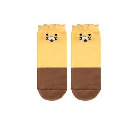 카카오 춘식이 단목 배색 양말C29520